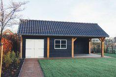 Garage Gym, Garage Doors, Carport With Storage, Hay Barn, Modern Garage, Backyard Patio Designs, Life Hacks, Interior Decorating, Shed