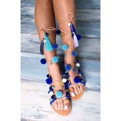 "Bohemian sandals ""Delphinium Greek leather sandals (€115) via Polyvore featuring shoes, sandals, boho chic sandals, bohemian style shoes, leather shoes, bohemian shoes and leather footwear"