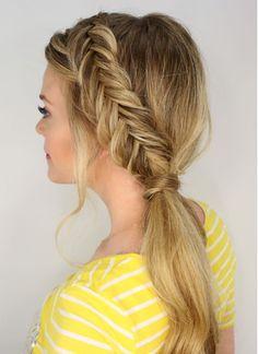 Fishtail ponytail