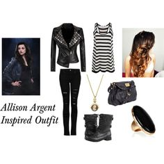 Allison Argent inspired outfit from the TV show, Teen Wolf.