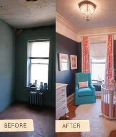 LOVE this nursery before-and-after renovation story
