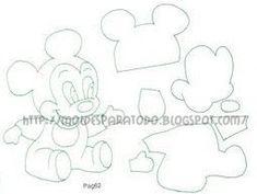 Fantasia Mickey ou Minnie para Boneco(a) de vestir com imã