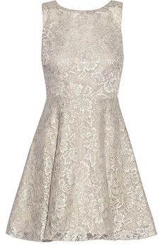 Alice   Olivia Natalia open-back lace mini dress | THE OUTNET