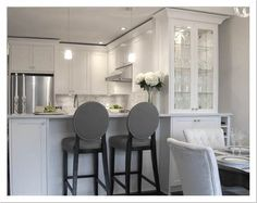 white kitchen silk tufted dining chairs gray linen oval back