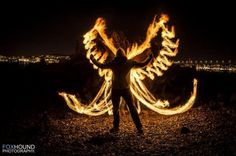 Angel of Fire by Foxhound - Experimental Photography Project Light Painting Photography, Fire Photography, Exposure Photography, Types Of Photography, Photography Projects, Abstract Photography, Creative Photography, Photography Lighting, Vincent Willem Van Gogh
