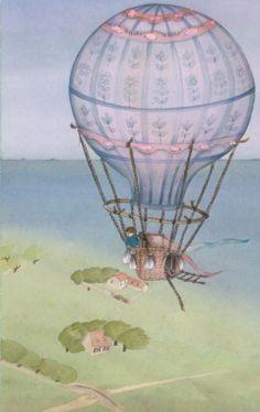 """""""Comment je vais à l'école"""" - illustration par Chantal van den Berghe"""
