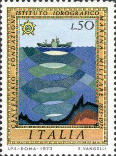 1973Dettaglio francobollo - catalogo completo dei francobolli italiani Stamp Collecting, Postage Stamps, Physics, Military, Tattoos, Artist, Collection, Cards, Italia
