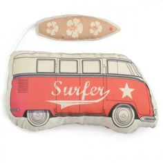 Combi VW Rouge - coussin musical