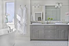 White bathroom...grey cabinets