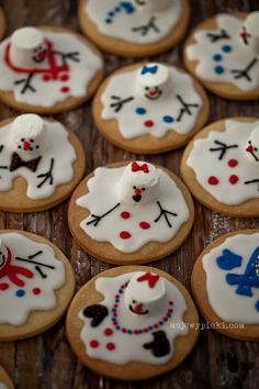 Snowmen cookies recipe for this Christmas