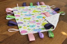 Sweet Turtle Tag and Texture blanket by LalasLovies on Etsy, $15.00