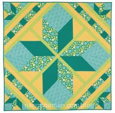 How to sew a long star quilt block Nancy Zieman.  (http://www.nancyzieman.com/blog/quilting-2/how-to-sew-lone-star-quilts-2/)