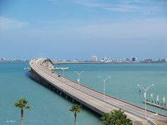 South Padre Island Causeway from Port Isabel