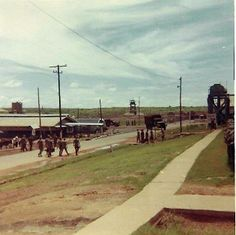 90th Replacement Battalion - Long Binh looking down road from barracks 1970
