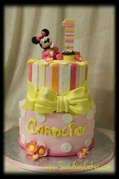 Tartas de cumpleaños - Birthday Cake - Baby Minnie Mouse