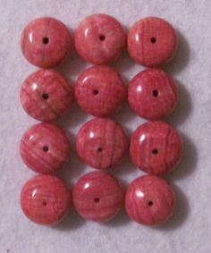 Rhodochrosite beads...