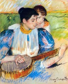 Mary Cassatt Paintings | artist mary cassatt painting the banjo lesson movement american ...