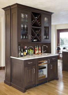 Design, Refrigerator Design On Dining Bar Cabinet Design Ideas: Think Well  In Finding The Right Size Of Bar Sink Cabinet | Interior Barn Doors |  Pinterest ...
