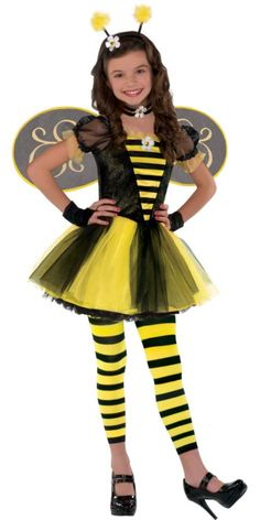 Girls Totally Bumble Bee Costume - Party City