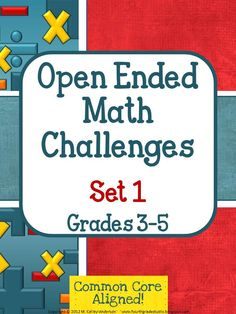 Revamped cover!  This set of 3 challenges can be used as whole class explorations, as small group challenges, or as independent work for those students needed something more. In my classroom, these are whole-class explorations where students work in teams, share ideas, guess and check their ideas—and then present their solutions. The problem solving and math applications are high level and meaningful. See what you think! 3 challenges are included, each taking several class periods.