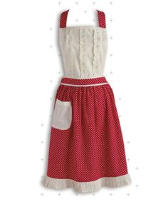 Look at this Red Polka Dot Apron on #zulily today!