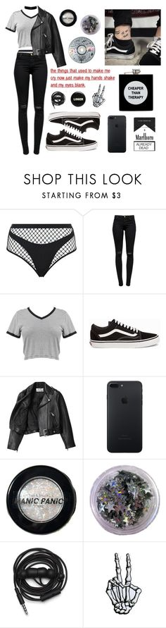 """papillons"" by bitnh ❤ liked on Polyvore featuring Agent Provocateur, J Brand, Vans, Acne Studios, Manic Panic NYC, Urbanears and ASOS"