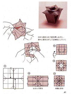 ADOBRACIA: Diagrama Do Origami Simples De Vaso Tradicional Chinês