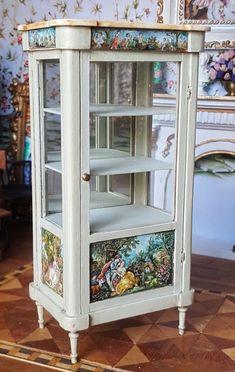Dollhouse Artisan Miniature OOAK Janet Reyburn Hand Painted Etagere Display 1:12