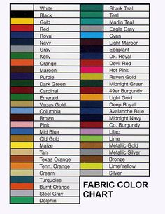 Find the background color you need. We cannot guarantee a true representation of each color as color shades may varydue to computer monitor and printer differences. Color Names Chart, Paint Color Chart, Colour Chart, Knots Guide, Braces Colors, Fashion Vocabulary, Casual Wear For Men, Social Media Banner, Color Psychology
