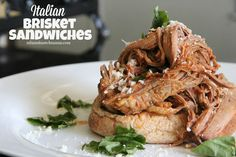 Mix and Match Mama: Dinner Tonight: Italian Brisket Sandwiches