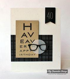Card using large Eyeglass stickers - Scrapbook.com - Powered by Scrapbook.com