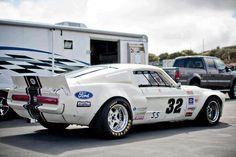 An abosolute phat Mustang race car!