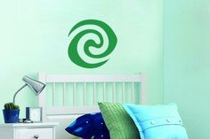 """Green Stone Heart of Goddess Te Fiti Vinyl Wall Decal/Sticker Description: Green Stone Heart of Goddess Te Fiti Measurements: 12.5""""w x 12""""h Green is generally the default for decals unless a different"""