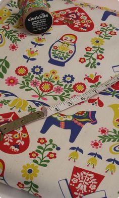 Clothkits russian doll - love this fabric!