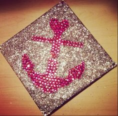 Delta Gamma graduation cap.
