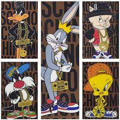 """Moschino Looney Tunes iPhone cases #moschino @itsjeremyscott #jeremyscott #looneytunes"""