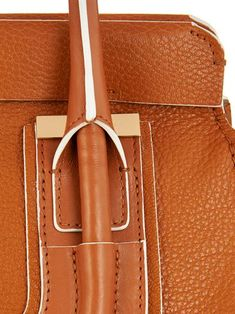 Leather, bag, handle, rope, detail