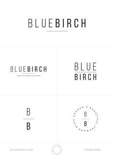 Premade Branding Suite, Blog Header, Blog Logo, Blog Identity, Brand Identity, Customize Logo, Bold Logo