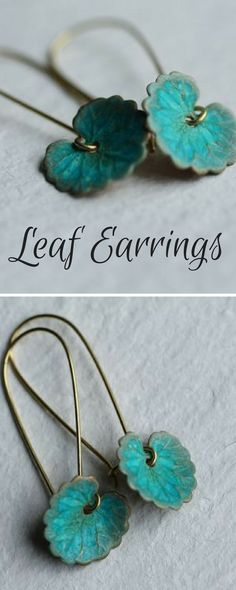Leaf EarringsbySILK PURSE, SOW'S EAR. 18. #notonthehighstreet #affiliate #handmade