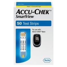 ACCU-CHEK SmartView Blood Glucose Test Strips - 50 Count Offers advanced accuracy important for insulin users. Easy-to-handle, quick-fill test strip with bright, yellow window for simple dosing. 1 vial of 50 test strips for use with accu-chek nano meter. Types Of Diabetes, Prevent Diabetes, Diabetes Food, Diabetic Breakfast, Diabetic Snacks, Diabetic Recipes, Type 1