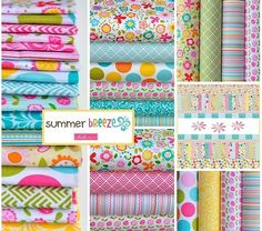 "Summer Breeze by Riley Blake Designs 5"" Stackers Charm Pack 100% Designer Cotton by Bella Blvd"