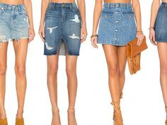 Are you looking for the perfect top to pair with your jean skirt this spring? We have collected the best cute jean skirt outfits for this season! From colder to warmer weather, we have you covered! Midi Skirt Outfit Casual, Denim Shorts Outfit, Ripped Jeans Outfit, Jean Jacket Outfits, Denim Overalls, Ripped Denim, Denim Outfits, Red Denim Skirt, Cropped Denim Jacket