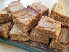 Peanut Butter Blondie Bars are a favorite from my childhood. We called them peanut butter chews. My school's cafeteria used to make t...