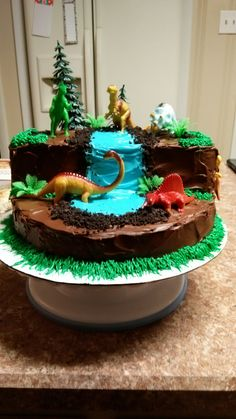 Excellent Image of Dinosaur Birthday Cake Dinosaur Birthday Cake Dinosaur Cake Cake Therapy Kare Dinosaur Birthday Cakes, Cool Birthday Cakes, Dinosaur Party, 3rd Birthday Parties, Birthday Fun, Dinosaur Cakes For Boys, Birthday Ideas, 2nd Birthday Cake Boy, Third Birthday