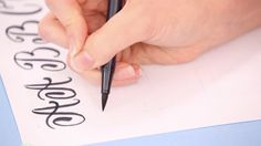 Compared to calligraphy, hand-lettering is less messy, less expensive, easier to transport/do on the go, and doesn't require much in the way of setup or breakdown, which means it's a good option for a lot of people! This video, taught by Danielle Evans, is a very good intro. (In the past, I've been frustrated with the way some of Brit.co's tutorial videos are shot, but I had no issues with this one.) And at $29, it's pretty affordable. This class introduced me to Tombow's dual-tip brush pens…