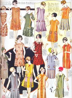 1920s clothing for girls aged 8-14.