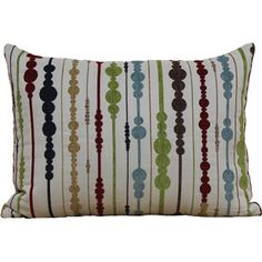 Better Homes and Gardens Circles Stripes Multi-Colored Oblong Pillow
