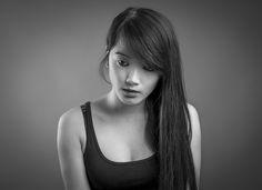 Portrait femme noir et blanc