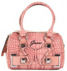 f1a8844a1d ♥HOT♥ 7 GUESS HANDBAG-PINK WITH BUTTERFLY