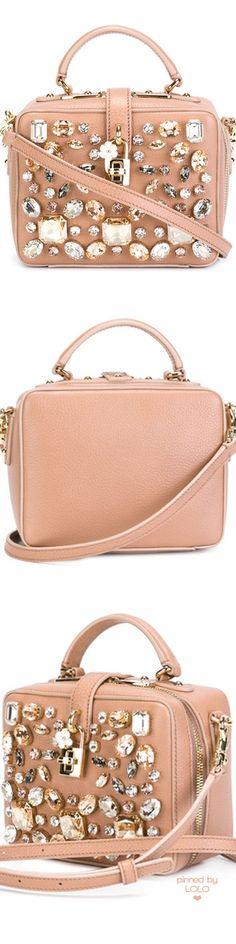 DOLCE & GABBANA 'Dolce' Embellished Shoulder Bag   LOLO❤︎
